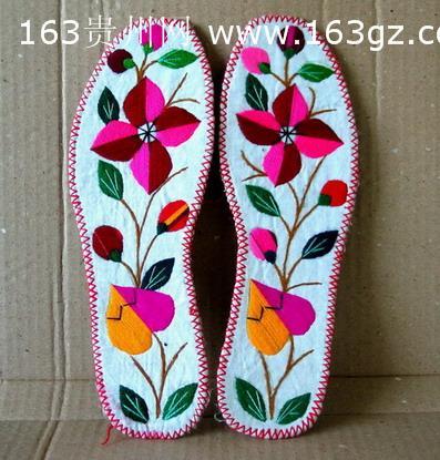 (图)黔南苗族手工绣花鞋垫